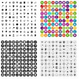100 science brainstorm icons set vector variant. 100 science brainstorm icons set vector in 4 variant for any web design isolated on white Stock Photography