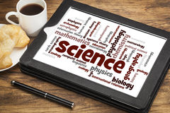 Science branches word cloud Stock Photos