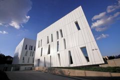 Science Building. Modern Hungarian research institute for medical science Royalty Free Stock Photos
