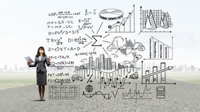Science of business planning Royalty Free Stock Images