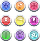 Science buttons Stock Photo