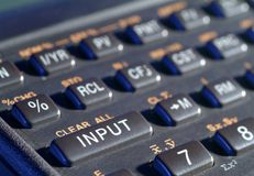 Science calculator. Showing the INPUT button Stock Images