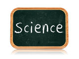 Science on blackboard banner Stock Image