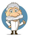 Science Character. Einstein Styled Cartoon Professor character Stock Photos