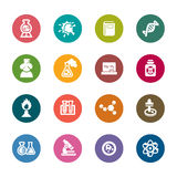 Science and Chemistry Color Icon. A collection of different kinds of science and chemistry color icon. It contains hi-res JPG, PDF and Illustrator 9 files Royalty Free Stock Image