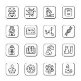 Science and Chemistry Doodle Icons Stock Image
