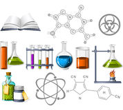 Science and Chemistry Icons Stock Photos