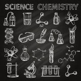Science And Chemistry Icons Set Stock Photography