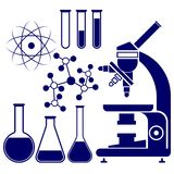 Science and chemistry icons set  vector Royalty Free Stock Photos