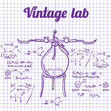 Science chemistry lab background (sketchy style). Science chemistry laboratory  background (sketchy style Royalty Free Stock Photos