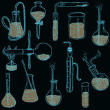 Science chemistry laboratory vector background sketchy style Royalty Free Stock Image