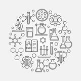 Science and chemistry line symbol Stock Photos