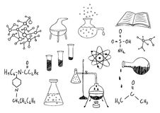 Science and chemistry  set Stock Photo