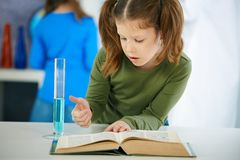 Science class at primary school Stock Photos