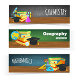 Science classes headers Royalty Free Stock Photo