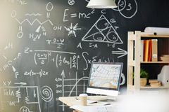 Science Classroom in College Stock Image