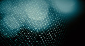 Science code online. Computer binary code abstract background Stock Photo