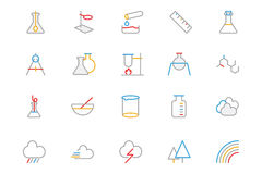 Science Colored Outline Vector Icon 6. Here is a very useful and trendy set of science icons that I am sure you will find great uses for your science projects Stock Photo
