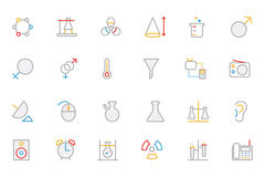 Science Colored Outline Vector Icon 3 Stock Photos