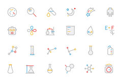Science Colored Outline Vector Icon 5 Royalty Free Stock Images