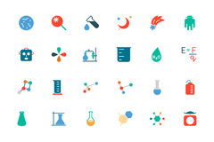 Science Colored Vector Icons 5 Stock Image