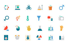 Science Colored Vector Icons 3 Stock Photos