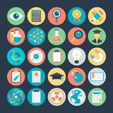 Science Colored Vector Icons 1 royalty free illustration