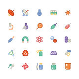 Science Colored Vector Icons 8 Royalty Free Stock Image