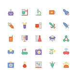Science Colored Vector Icons 4 Royalty Free Stock Photos