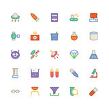Science Colored Vector Icons 6 Royalty Free Stock Photo