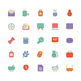 Science Colored Vector Icons 9 Royalty Free Stock Photos