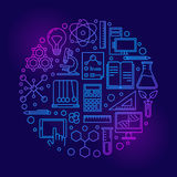 Science colorful illustration Stock Photography