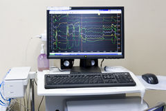 Science computer in hospital 2 Stock Images