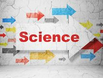 Science concept: arrow with Science on grunge wall background Royalty Free Stock Photography