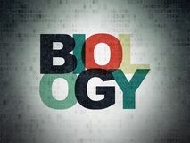 Science concept: Biology on Digital Data Paper background Stock Image