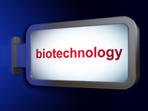Science concept: Biotechnology on billboard background Royalty Free Stock Image