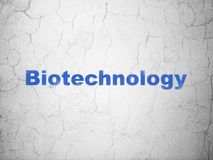 Science concept: Biotechnology on wall background Stock Images