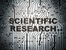 Science concept: circuit board with Scientific Research Royalty Free Stock Photos