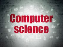 Science concept: Computer Science on Digital Data Paper background Royalty Free Stock Photos