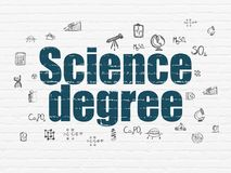 Science concept: Science Degree on wall background Royalty Free Stock Photo