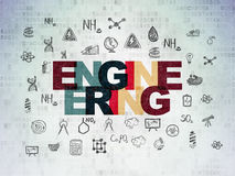 Science concept: Engineering on Digital Data Paper background Stock Images