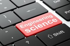 Science concept: Engineering Science on computer keyboard background Stock Photography