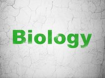Science concept: Biology on wall background Royalty Free Stock Photo