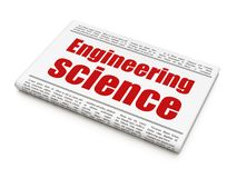 Science concept: newspaper headline Engineering Science Royalty Free Stock Images
