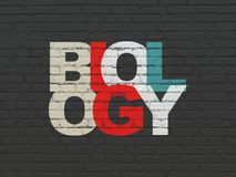 Science concept: Biology on wall background Royalty Free Stock Images