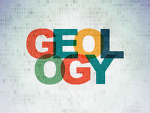 Science concept: Geology on Digital Data Paper background Stock Photo