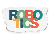 Science concept: Robotics on Torn Paper background. Science concept: Painted multicolor text Robotics on Torn Paper background Stock Photography