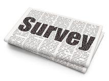 Science concept: Survey on Newspaper background vector illustration