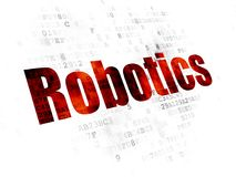 Science concept: Robotics on Digital background. Science concept: Pixelated red text Robotics on Digital background Royalty Free Stock Image