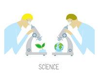 Science concept with researcher Royalty Free Stock Images
